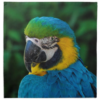 Blue and Yellow Bird Napkin
