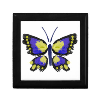 Blue and Yellow Butterfly Gift Box