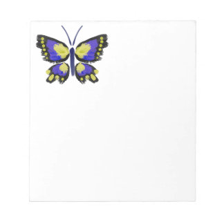 Blue and Yellow Butterfly Notepad