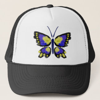 Blue and Yellow Butterfly Trucker Hat