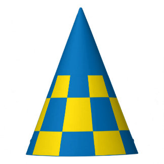 Blue and yellow checkerboard - Swedish flag Party Hat