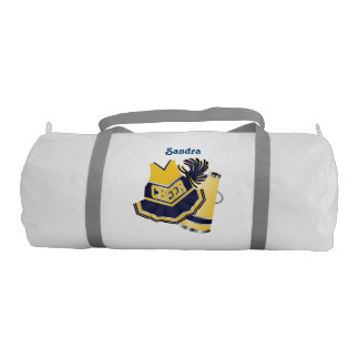 Blue and Yellow Cheerleader Duffel Bag Gym Duffel Bag