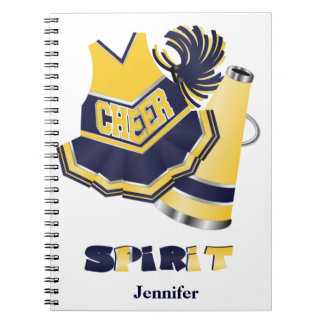 Blue and Yellow Cheerleader Notebook
