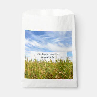 Blue and Yellow Cornfield Farm Country Wedding Favour Bags