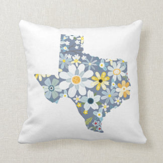 Blue and Yellow Floral Texas Pillow