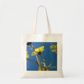 Blue and Yellow Flower Bag