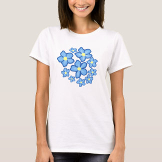 Blue and Yellow Flowers shirt