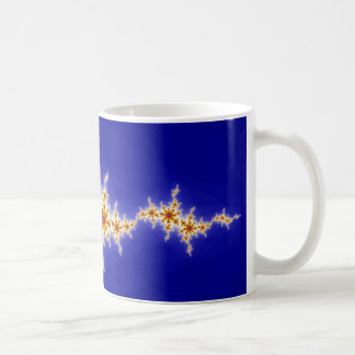 Blue and Yellow Fractal Coffee Mugs