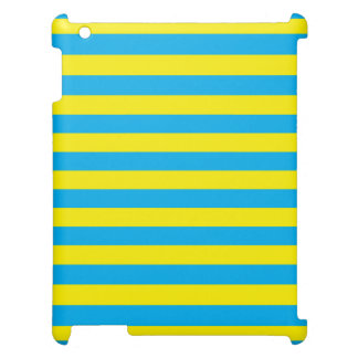 Blue and Yellow Horizontal Stripes Cover For The iPad 2 3 4