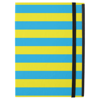 "Blue and Yellow Horizontal Stripes iPad Pro 12.9"" Case"