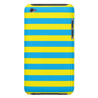 Blue and Yellow Horizontal Stripes iPod Touch Cover