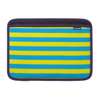 Blue and Yellow Horizontal Stripes MacBook Air Sleeve