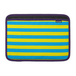 Blue and Yellow Horizontal Stripes MacBook Sleeve