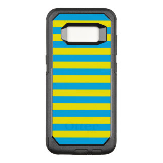 Blue and Yellow Horizontal Stripes OtterBox Commuter Samsung Galaxy S8 Case