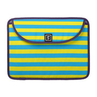 Blue and Yellow Horizontal Stripes Sleeve For MacBook Pro