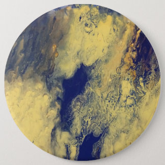 Blue and Yellow Marble Button