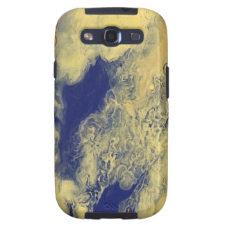 Blue and Yellow Marble Galaxy S3 Cover