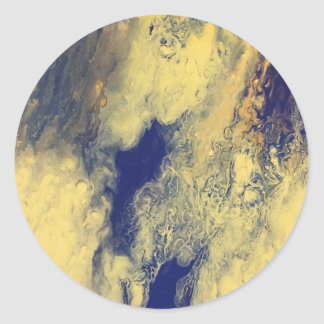 Blue and Yellow Marble Sticker