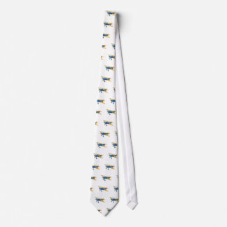 Blue and Yellow Military Flight Trainer Tie