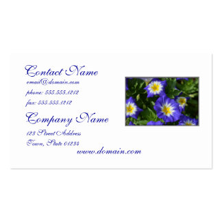 Blue and Yellow Morning Glories Business Card Templates