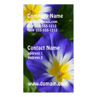 Blue and Yellow Morning Glories Business Card Template