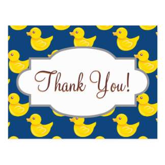 Blue and Yellow Rubber Duck, Ducky Postcard