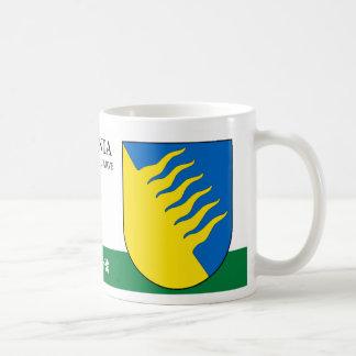 Blue and Yellow Shield from Kohtla Jarve Estonia Coffee Mug