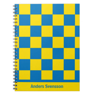 Blue and yellow - Swedish flag Spiral Note Book