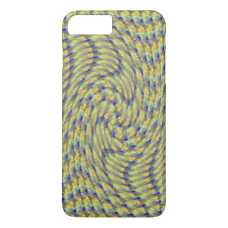 Blue and Yellow Swirl iPhone 7 Case