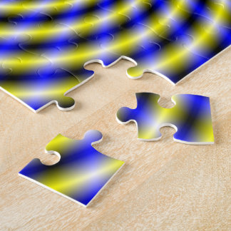 Blue and Yellow Swirl Puzzles