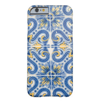 Blue and yellow tile, Portugal Barely There iPhone 6 Case