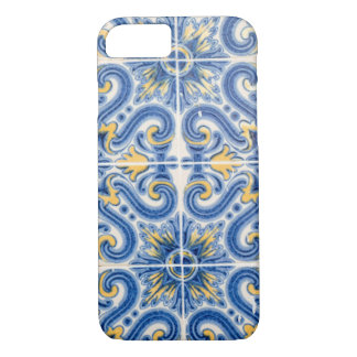 Blue and yellow tile, Portugal iPhone 8/7 Case