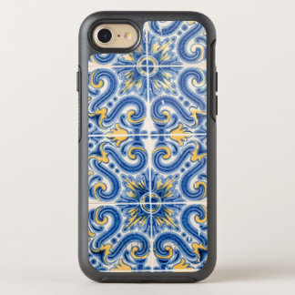 Blue and yellow tile, Portugal OtterBox Symmetry iPhone 7 Case