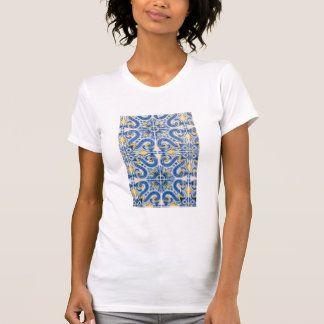 Blue and yellow tile, Portugal T-Shirt