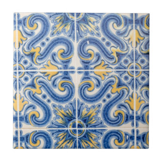 Blue and yellow tile, Portugal Tile