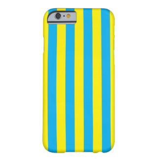 Blue and Yellow Vertical Stripes Barely There iPhone 6 Case