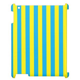 Blue and Yellow Vertical Stripes iPad Cases