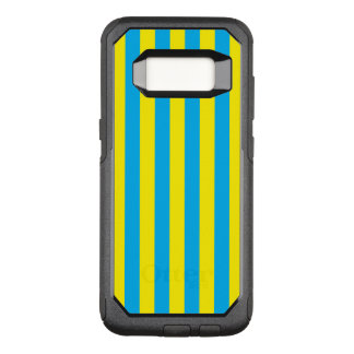 Blue and Yellow Vertical Stripes OtterBox Commuter Samsung Galaxy S8 Case
