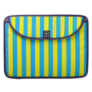 Blue and Yellow Vertical Stripes Sleeves For MacBook Pro