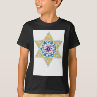 Blue and Yellow Vintage Star of David - Magen Davi T-Shirt