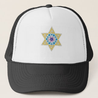 Blue and Yellow Vintage Star of David - Magen Davi Trucker Hat