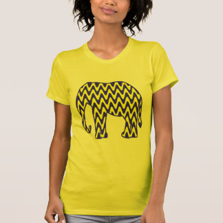 Blue and Yellow Zigzag Elephant Tees