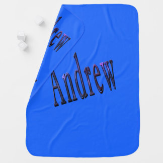Blue Andrew Name Logo, Baby Blanket