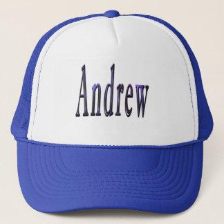 Blue Andrew Name Logo, Trucker Hat