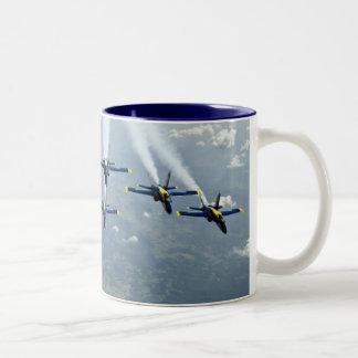 Blue Angel Fighter Jets Two-Tone Coffee Mug