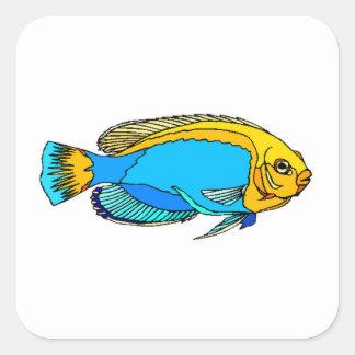 Blue Angel Fish Sticker