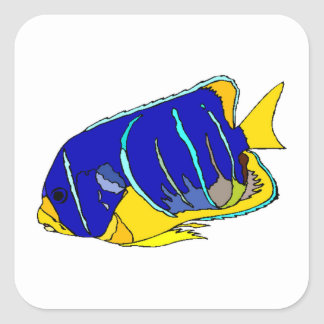 Blue Angel Fish Stickers