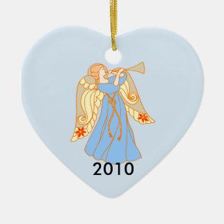 Blue Angel Heart Baby s 1st Christmas Christmas Tree Ornaments