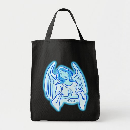 Blue Angel Of Peace Tote Bag