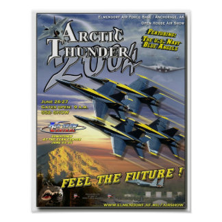 Blue Angels air show poster